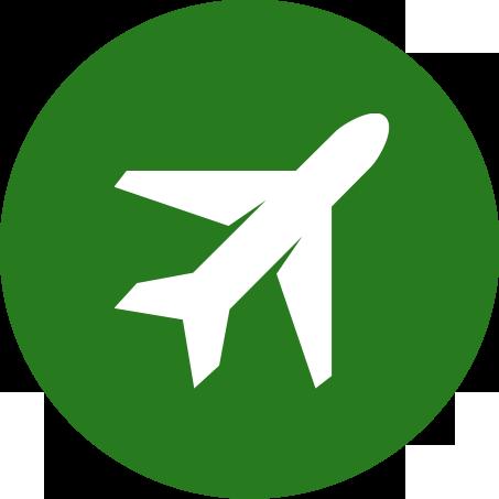 Verreisen mit dem Flugzeug