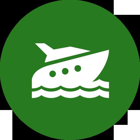 Verreisen mit dem Schiff